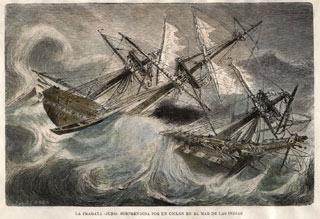 Jules Achille Noel - The Frigate Juno